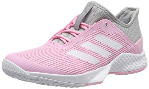 adidas Damen Adizero Club W Tennisschuhe, Grau Light Granite/FTWR White/True Pink, 38 EU