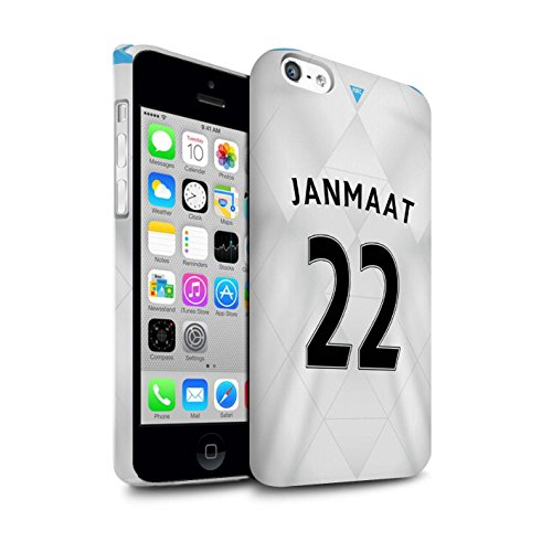 Offiziell Newcastle United FC Hülle / Matte Snap-On Case für Apple iPhone 5C / Pack 29pcs Muster / NUFC Trikot Away 15/16 Kollektion Janmaat