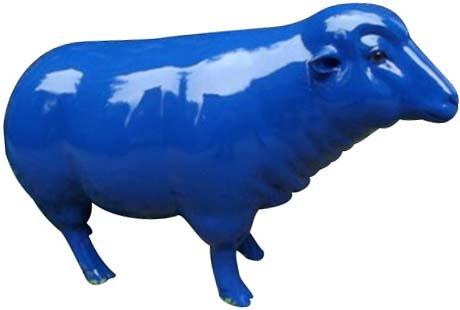 Mouton design colorée en résine 103 cm