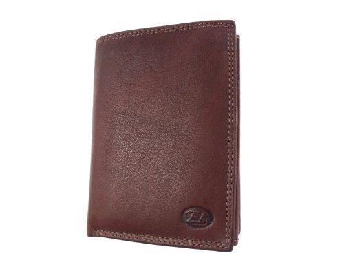 Geldbörse Brieftasche Herren Forum Premium-Qualität Luxus braun Leder mit Schachtel NO018 (Forum Leder)