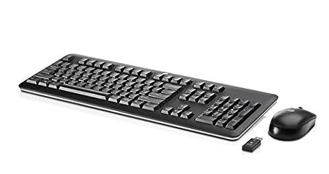 HP QY449AT#ABD Kabellose Tastatur und Maus (QWERTZ Tastaturlayout, USB-Wireless-Empfänger) schwarz