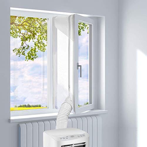 UBRU Fensterabdichtung für mobile Klimageräte, zum Anbringen an Fenster, Dachfenster, Flügelfenster (Fenster 400 cm)