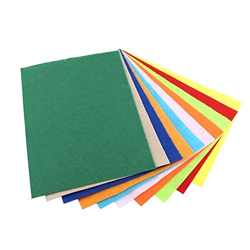 10 stücke Mischte Gelegentliche Farben Vlies Quadrat Filz Blatt für Nähen Handwerk DIY Geschenke Hauptdekorationen Lernen Spielzeug 20 * 30 cm