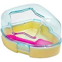 Toruiwa 1X Haustier Hamster Badezimmer Sand Raum Badewanne Zimmer Sauna Toilette Ecktoilette mit Dach Zufällige Farbe
