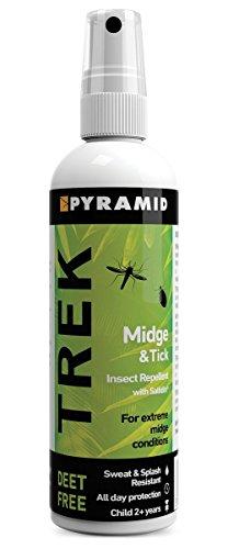 Pyramid Trek Midge & Tick No DEET Midge/Tick/Mosquito Repellent DEET FREE Saltidin Spray - 100ml 5