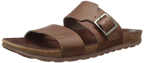 Merrell Herren Downtown Slide Buckle Sandalen, Braun (Dark Earth), 42 EU