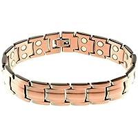 Preis Herren Unisex schwer Kupfer Magnet Armband Verschluss 34 leistungsstark Magnete Arthritis 5000 Gauß preisvergleich bei billige-tabletten.eu