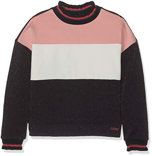s.Oliver RED Label Mädchen Oversize-Sweatshirt mit Rüschenkragen Dark Blue Melange 128/134.REG