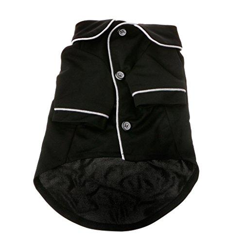 Junlinto Kawaii Dog Pijamas Perros de Invierno Mono para Perros Ropa para Mascotas Guardapolvos Negro L