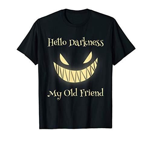 Hallo Dunkelheit, mein alter Freund Jack-O-Lantern Kürbis T-Shirt