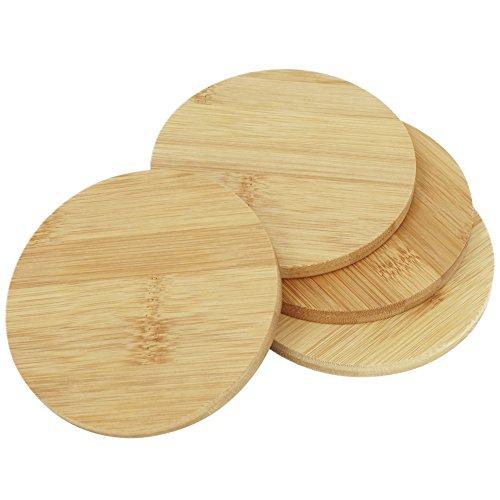 etzer aus Bambusholz, Ø 11 cm, rund, 0,9 cm dick (4 Stück - rund) ()