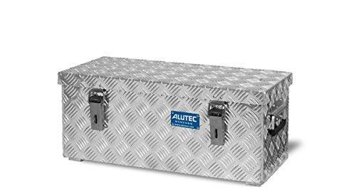 ALUTEC Alu-Transportkiste Riffelblech - 37 l Inhalt - LxBxH 622 x 275 x 270 mm - Alu-Box Alu-Kiste Alu-Transportbox Alu-Transportkiste Kiste für Pritsche Kisten für Pritsche Pritschenbox Pritschenboxen Transportbox Transportbox für Pritsche Transportboxen