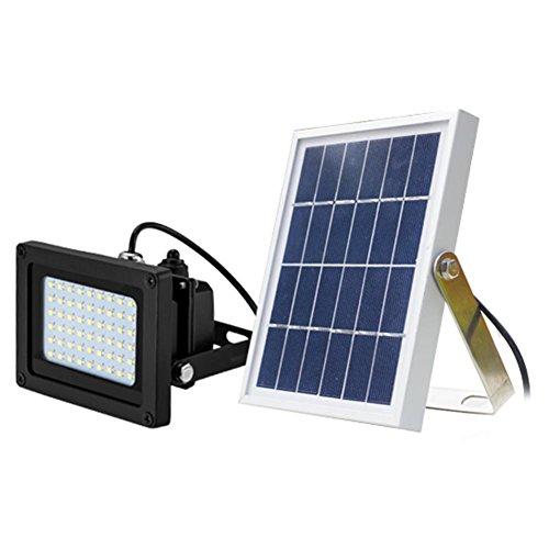 Matefield 54LED Solar Sensor Flutlicht Garten Outdoor Sicherheit Wasserdicht Spot Lampe with Frame