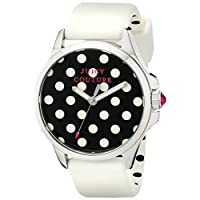 Juicy Couture Womens Quartz Watch, Analog Display and Rubber Strap 1901221