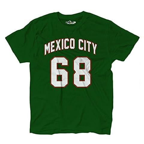 Dope Blu Ray - T-Shirt hommes cite Ciudad de Mexico Green