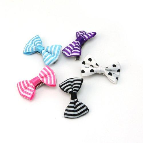 5 x Bébé Enfants Accessoires Arc Motif Nœud Papillon Pince Epingle à Cheveux