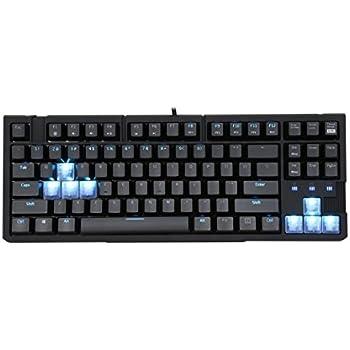 Rosewill RGB80 LED RGB Illuminated Blue Mechanical Switches Gaming 87 Keys Keyboard