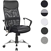 SixBros. Chaise de bureau pivotante noir - H-935-6/1319