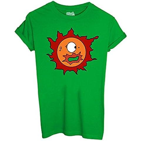 T-Shirt SOLE POLLON 2 - CARTOON by iMage Dress Your Style - Bambino-XL-VERDE PRATO