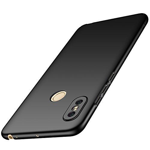 anccer Xiaomi Mi Max 3 Hülle, [Serie Matte] Elastische Schockabsorption und Ultra Thin Design für Xiaomi Mi Max 3 (Glattes Schwarzes)