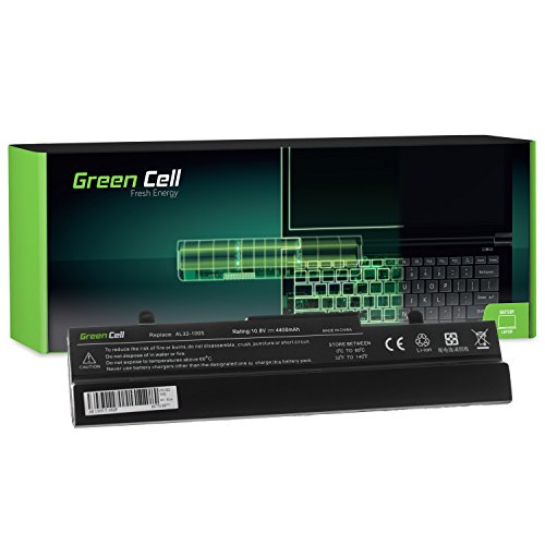 Green Cell® Standard Serie AL32-1005 Laptop Akku für Asus Eee PC 1001 1001HA 1001PX 1001PXD | 1005 1005H 1005HA 1005P 1005PXD | R101 (6 Zellen 4400mAh 11.1V Schwarz)