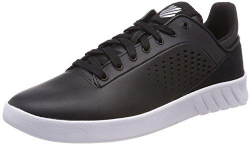 K-Swiss Herren Nova Court Sneaker, Schwarz (Black/White), 41 EU