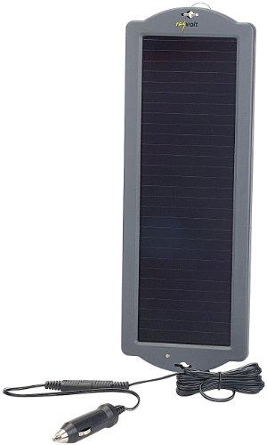 REVOLT Solarpanel für Auto: Erhaltungs-Solargerät für Auto- / PKW-Batterie 12V, 1,5W (Solar Ladegeräte für Autobatterien)