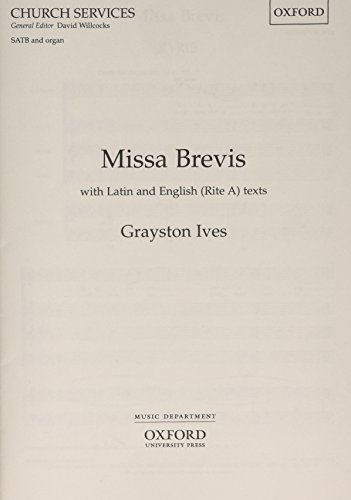 Missa Brevis: Vocal Score (Oxford church services)
