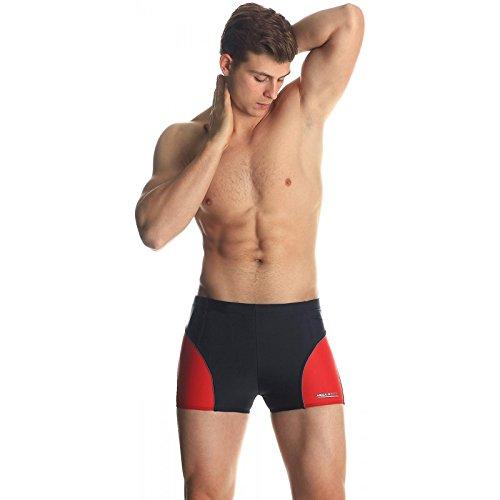 Costume Oliver II 3colori + Cuffia da nuoto Aqua Speed, schwarz/rot, L schwarz/rot