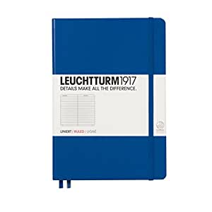 LEUCHTTURM1917 342707 Notebook Medium (A5), 249 numbered pages, ruled, royal blue