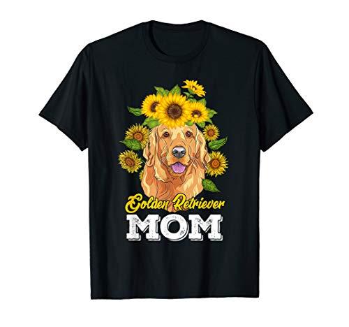 Golden Retriever Mom Shirt Sunflower Mother's Day Gift -