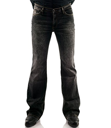 Comycom Jeans Jeans Boot Cut Basic Uomo Nero W32/L32