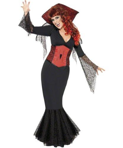 SMIFFYS Schwarze Witwe Halloween damen Kostüm S - Für Witwe Erwachsene Kostüm Schwarze