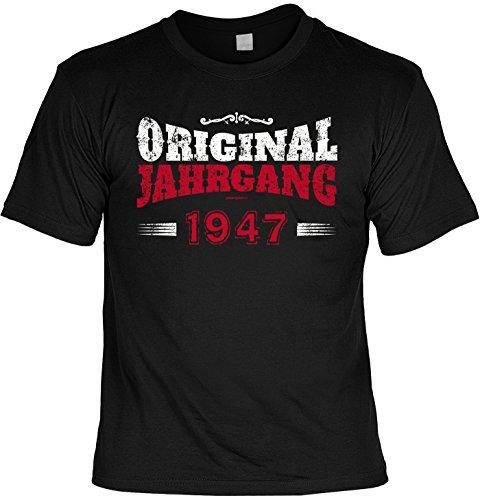 Cooles T-Shirt zum 70. Geburtstag Original Jahrgang 1947 Geschenk 70. Geburtstag 70 Jahre Geburtstagsgeschenk Geschenk Opa Oma Großeltern Schwarz