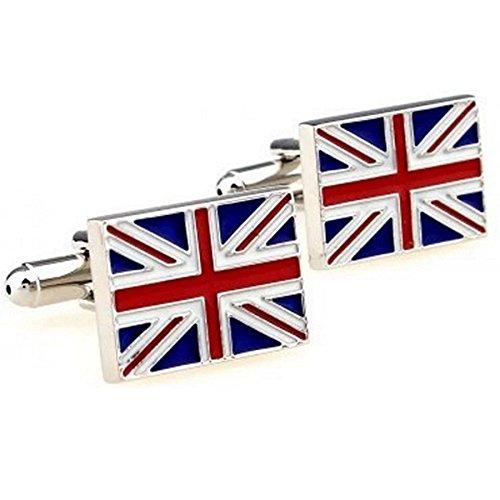 RXBC2011 Bandiera britannica stile camice francesi uomini dei gemelli 1 paio Set - Novità American Flag