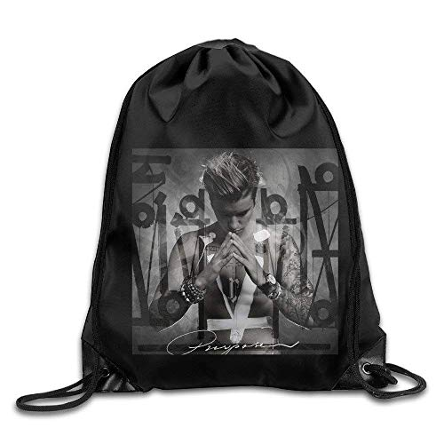 druckte Sportbeutel, Premium Drawstring Gym Bag Rucksack, Drawstring Backpack Bag Justin Bieber Purpose ()