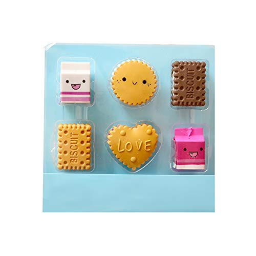 Shuda 1 Set Lot Gommes Mignon Biscuits Petites Gommes Crayon Gommes À Effacer École Bureau Utiliser Holiday Boys Filles Cadeau