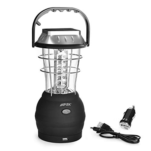 AGPtek Lanterna solare 36 LED Modo 5 Ultra Luminosa Lampada Campeggio Impermeabile per Emergenze Escursioni Pesca Trekking