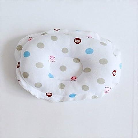 Forma redonda de almohadas de algodón de bebé recién nacido bebé almohada anti-migraine bebé Soft almohadas Suspensión