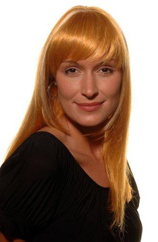 Perücke, Rot & Blonde Strähnen, Femme Fatal (Femme Perücke Fatale)