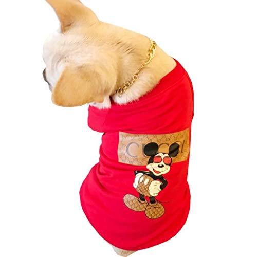 kleidung mit rundem Kragen und Buchstaben, für Hunde, zweibeinige Kleidung L rot ()