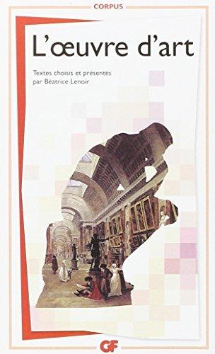 L'oeuvre d'art by Batrice Lenoir (2012-11-03)