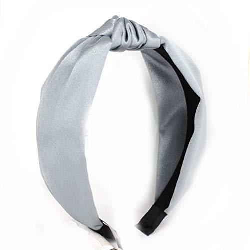 samSN Böhmisches Einfarbiges Satinband Geflochtenes Haarband Geknotetes Stirnband Kundenspezifische Haarschmuck Himmelblau 4Er-Set