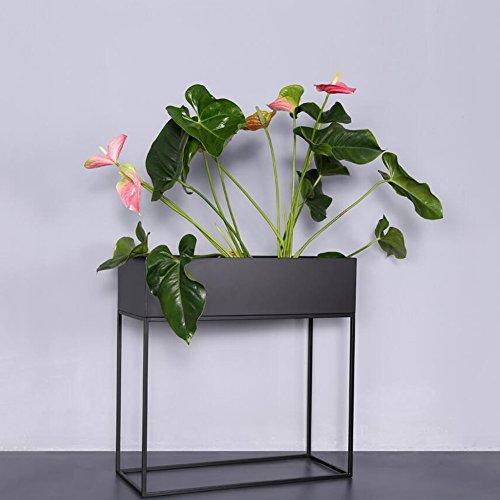 MUMA Jardin d'intérieur extérieur Patio Plant Bonsai décoratif présentoir à fleurs, 1-Pack Iron Art FlowerPot Stands, 1 Pot & 60 CmH Planter Holder, élégant étage Design étagère, auge de fleurs,