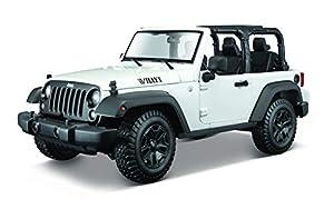 Maisto- Jeep Wrangler Rubicon, Color Blanco (31610W)