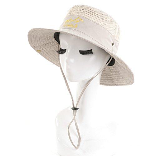 Chapeau Chapeau d'été, pêche extérieure de Sweatband de Ventilation de Protection Solaire de Sun Hat Men, 6 Couleurs facultatives (Couleur : Beige)