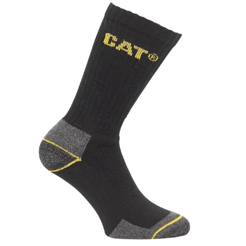 CAT Caterpillar Workwear Black And Grey Crew Socks Pack Of 3 Pairs