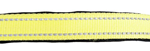 HKM 91878041.0651 Halfter -Reflex-, weich unterlegt Warmblut, Neon gelb