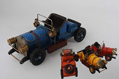AVENUELAFAYETTE Réplique Voiture Ancienne de Collection Vintage rétro - métal - 34 cm (Orange)