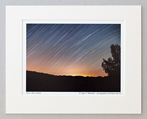 140421-60-71-stars-and-comets-a4-matted-fine-art-photograph-best-for-home-and-office-room-wall-decor